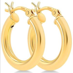 Jewelry - Yellow Gold Plated/Stainless Steel Chunky Earrings